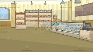 Inside A Bakery Background