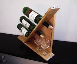 Wine Rack For 3 Bottles Out Of Pallet Wood 7 Steps With Pictures