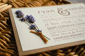 Rustic Elegant Wedding Invitations Ideas Combined With Lovely Blue Flowering Decoration And Brown Wording Design