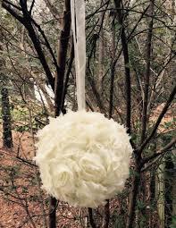 one 6 shabby chic kissing ball flower girl pomander wedding