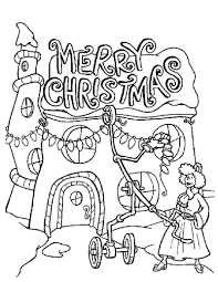 Whovilles Merry Christmas Lights Coloring Page Print