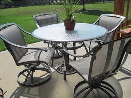 Patio Furniture Replacement Slings Las Vegas by Furniture Grey Iron With Round Table Hampton Bay Outdoor