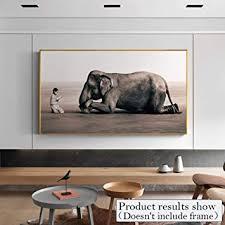 de sunnywlh wandbild moderne junge und elefant foto