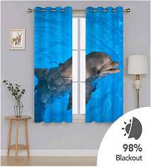 aeici vorhänge schlafzimmer muster delfin wohnzimmer vorhang