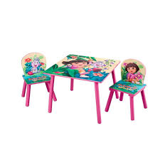 delta children table chair sets dora the explorer table and