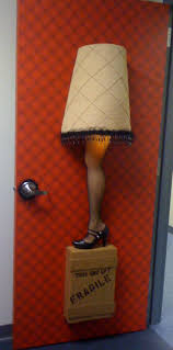 Office Cubicle Christmas Decorating Contest Rules by Leg Lamp Door Decor From Our Office Office Door Contest