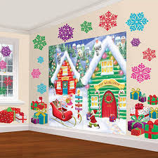 Halloween Scene Setters by Amazon Com Amscan Winter Wonderland Christmas Party North Pole