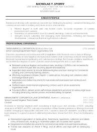 Sample Resume Attorney Career Change Lawyer Here Are Examples Senior Counsel Template Samp