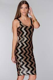 black and gold sequin chevron dress naf dresses
