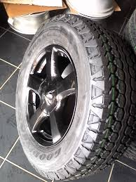 Original Isuzu 17'' Mags Black 4x With New Tyres Goodyear Wrangler ...