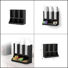 Coffee Stand Station Office Home Rack Tea Dispenser Cup And Lid Holder Organizer