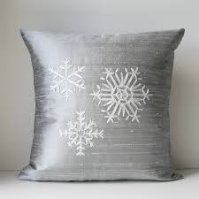 View In Gallery Silver Snowflake Pillow