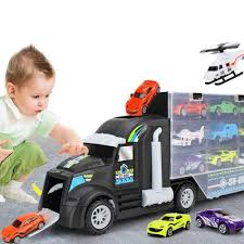 100 Toy Car Carrier Truck Eulan Transport Rier With 10 S And 2 Helicopters Great S Gift For Boys And Girls Rier