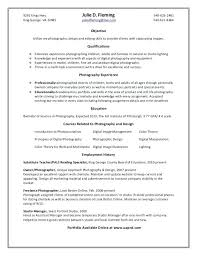 Photography Resume Template Freelance Photographer Samples Sample
