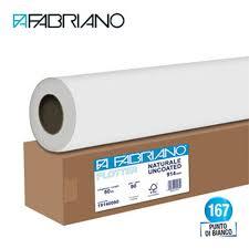 Rotolo Plotter Cm 914x50 Mt 80 Grmq Anima 50 Carta Bianca A0