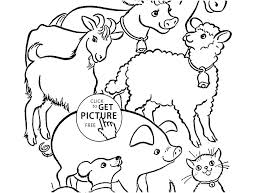Farm House Coloring Pages Free Page Children Animals