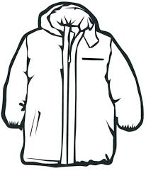 Winter Clothes Clipart Black And White