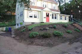 Image Of Steep Slope Landscaping Ideas On A Sloped Front Yard ... Best 25 Sloped Backyard Landscaping Ideas On Pinterest A Possibility For Our Landslide The Side Of House How To Landscape A Sloping Backyard Diy Design Ideas On Hill Izvipicom Around Deck Gray Trending Garden Quiet Corner Sixprit Decorps 845 Best Outdoor Images Living Landscaping Debra Kraft Aging In Place Garden Archives In Day Designs Uphill With Slope Step By Steps And Stairs Timbers