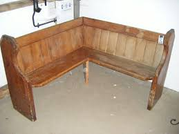 rustic simple wooden corner bench seating for corner bench seating