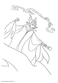Disney Villains Coloring Pages 12 Maleficent