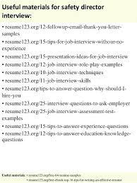 Sample Resume Safety Supervisor With Director Of