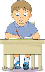 Simplistic Student Sitting At Desk Clipart 64 About Remodel School