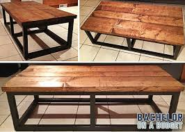 diy coffee table modern with reclaimed wood look under 60
