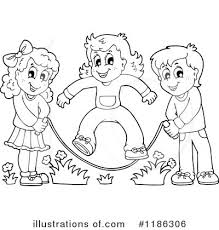 Jump Rope Clipart Illustration by visekart
