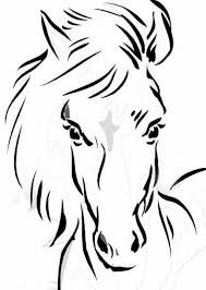Childrens Printable Horses Coloring Pages V9hxD