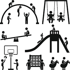 Royalty Free Children Playground Clip Art