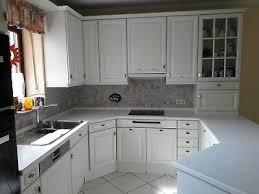 einbau küche u form front massiv holz weiß küchenschränke