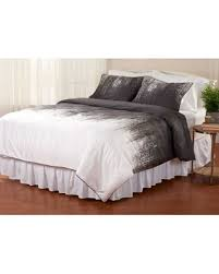 spectacular deal on vince camuto lyon comforter set grey white