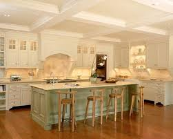 traditional kitchen with charming white cabinets and in green