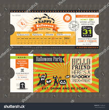 Date Halloween 2014 by Halloween Card Train Ticket Pass Style Stock Vector 217288183