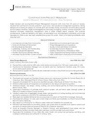 Sample Resume For Project Manager Architectural Styles