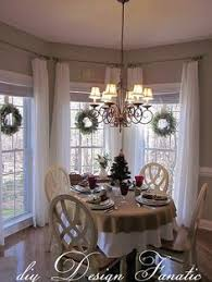 Classy Christmas Curtains For Long Windows Dining Room Kitchen Window