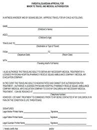 Field Trip Permission Letter Free Child Travel Consent Form Template