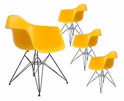 4 pcs stuhl set schwarz pulver beschichtung bein pp kunststoff sitz moderne design minimalistischen esszimmer stuhl beliebte mode loft stühle 4 pcs