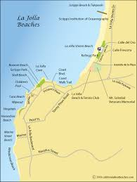 Map Of Beaches In La Jolla San Diego County CA
