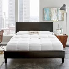 premier zurich faux leather twin black upholstered platform bed