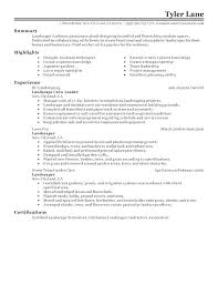 Landscaping Resume Examples Best Modern Skills For Nu U108578