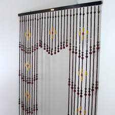 Doorway Beaded Curtains Wood by Vintage Wooden Bead Curtain Beaded Curtain Room Divider Hanging