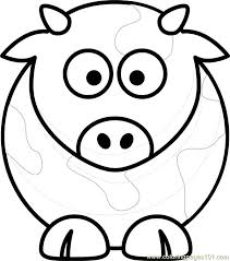 Coloring Page Of A Cow