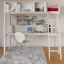 bureau blanc alinea lit mezzanine 90x200cm avec bureau blanc lou mezzanines et