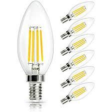 shine hai e14 led candle filament bulbs 4w 40w clear candle bulbs