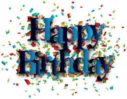 Blue Happy Birthday PNG Clip Art Image · View full size