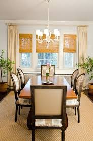 Dining Room Window Treatments Ideas Bamboo Blinds Shades Decor Bay Treatment