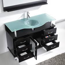 Overstock Bathroom Vanities 24 by Virtu Usa Ms 48 Fg Es Vincente 48 Inch Bathroom Vanity With Single