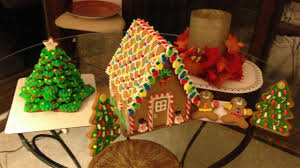 Christmas Cookie Tree And Gingerbread House