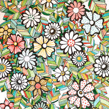Flower Designs Coloring Book Jenean Morrison Bonjour Coloristes Art Design